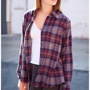 Brandy Melville Wylie Flannel Button Down Shirt